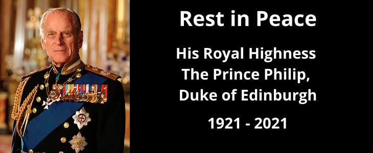 Tributes paid to HRH Prince Philip, Duke of Edinburgh