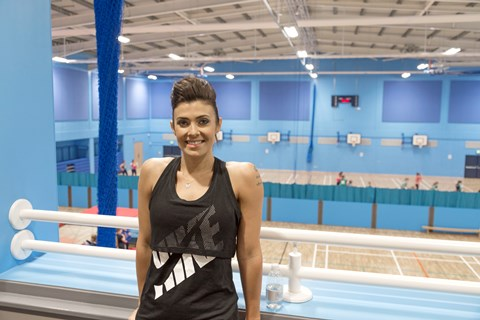 Coronation Street's Kym Marsh in new Queen's Park sports hall