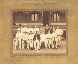 old photo of Queen's Park cricket team