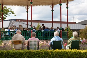 Extra concert at bandstand