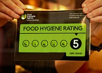 Food hygiene rating sticker