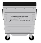 General Waste Container Silver Web