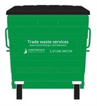 General Waste Container Green Web