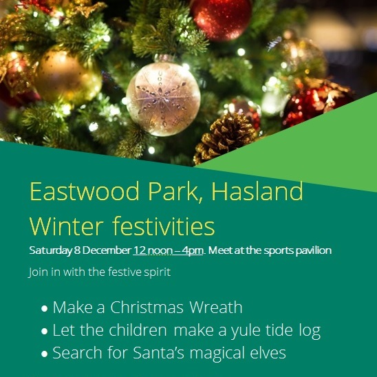 Winter festivities at Eastwood Park