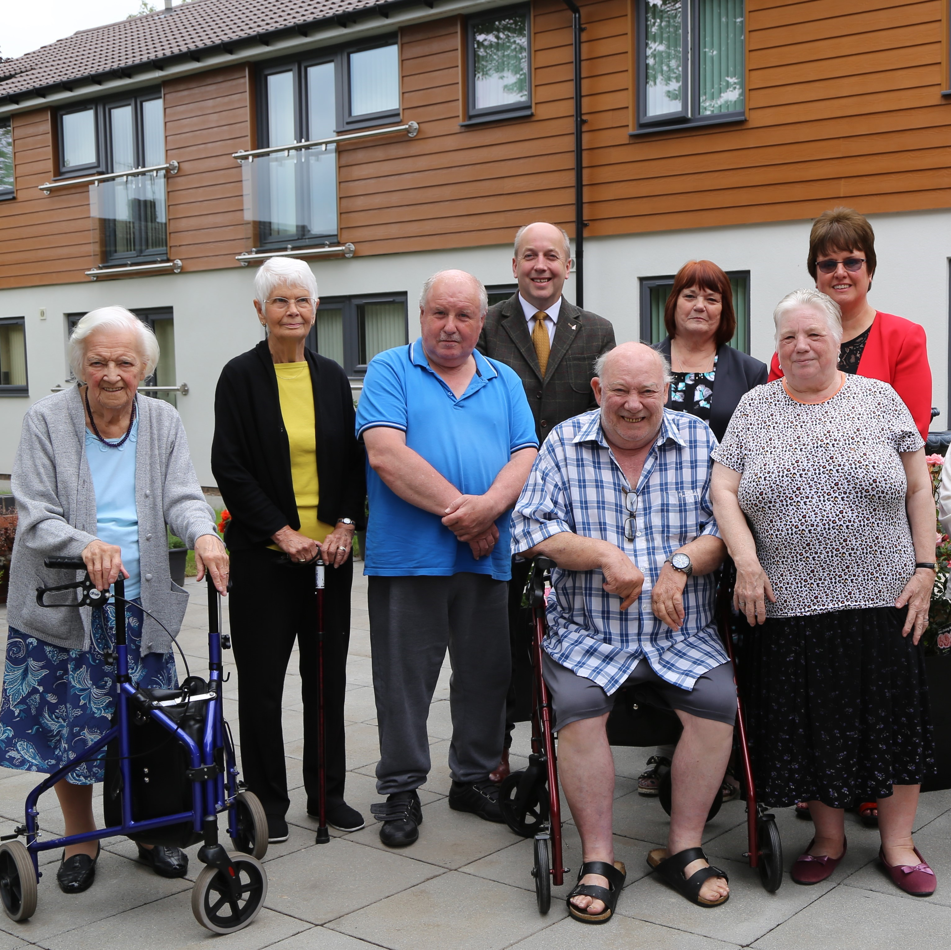 Officially opening Glebe Court