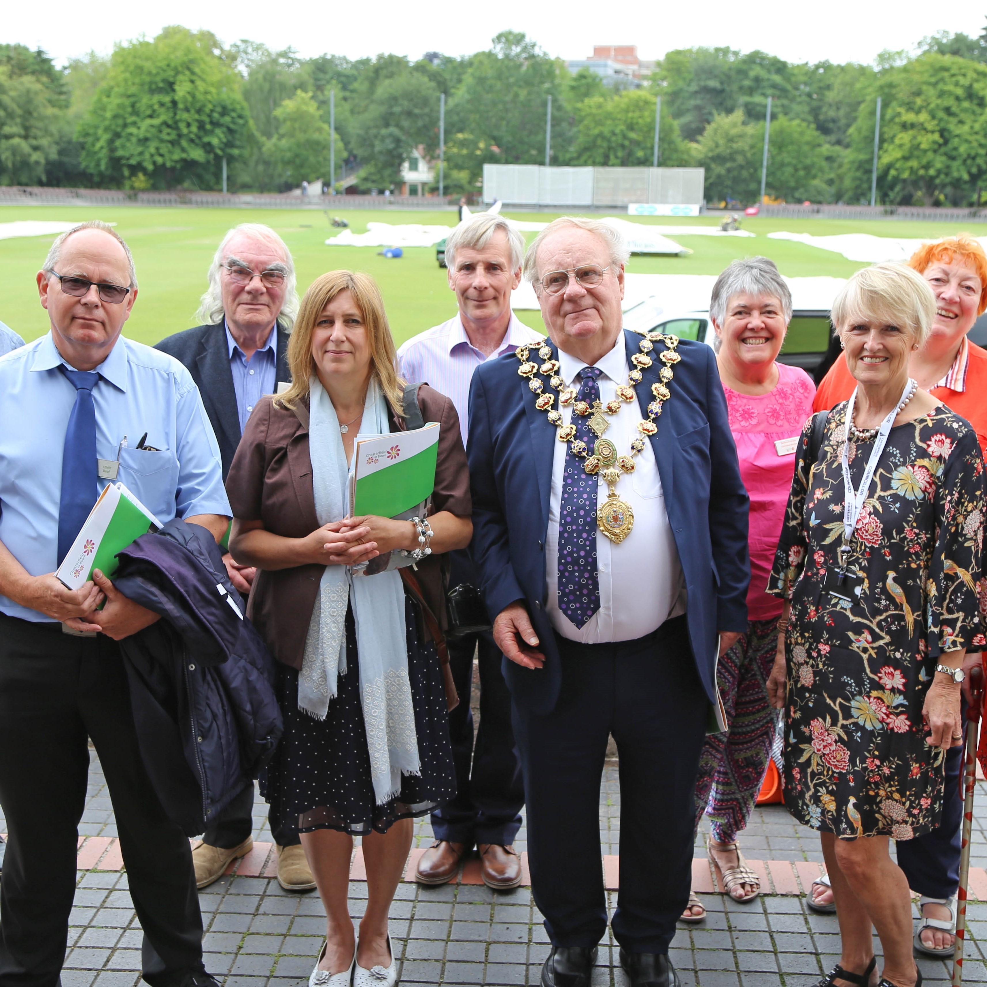 East Midlands judges visit blooming marvellous Chesterfield
